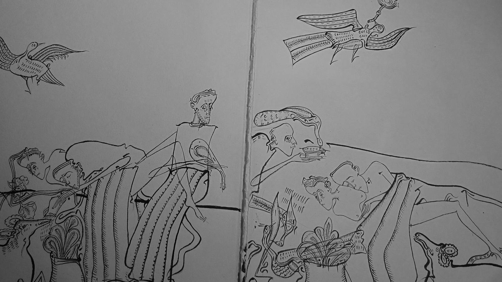 Desen Pe Hârtie Patinată  Perioadă 2015